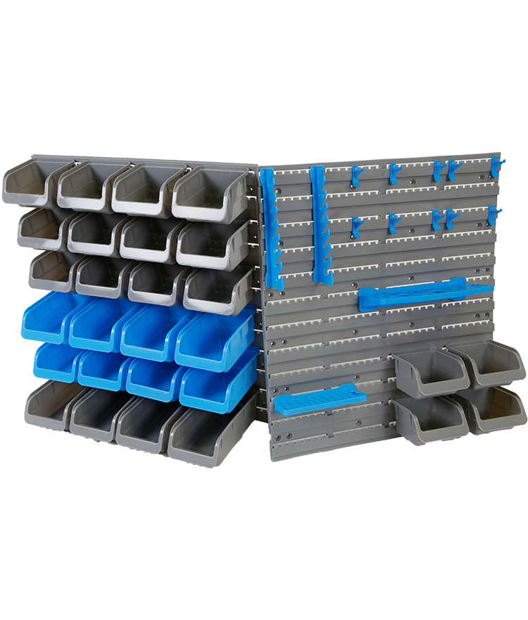 Parts Storage Bin & Tool Rack 44pce
